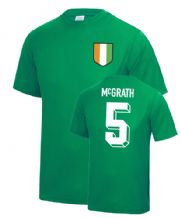 Paul McGrath Ireland World Cup Football T Shirt
